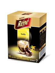 René Espresso káva příchuť Vanilla 10x kapsle pro Nespresso