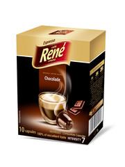 René Espresso káva příchuť Chocolade 10x kapsle pro Nespresso