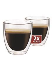 Maxxo DG808 espresso dvoustěnné termo sklenice 2ks