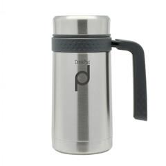Pioneer DrinkPod termohrnek s rukojetí Stříbrný, 450ml