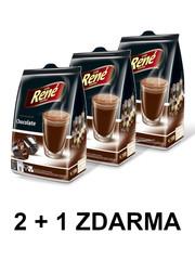 René Chocolate horká čokoláda kapsle pro Dolce Gusto 2+1 ZDARMA