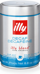 Illy Decaf mletá káva bez kofeinu 250 g