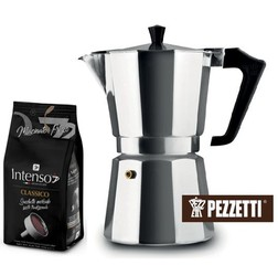 Dárkový set moka konvice Pezzetti Ital 6 plus 2x mletá káva Intenso Classico 250g