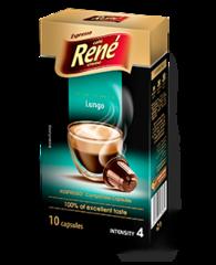 René Espresso Lungo kapsle pro Nespresso 10 ks