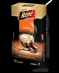 René Espresso káva příchuť Caramel kapsle pro Nespresso 10 ks