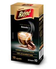 René Ristretto kapsle pro Nespresso 10 ks